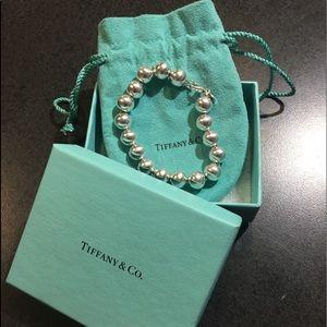 Tiffany & co 10mm bead bracelet 7.5in